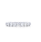 Kate's engagement ring is definitely a stunner. To complement it, she might want to choose a platinum wedding band with brilliant-cut diamonds like this style from Tiffany.