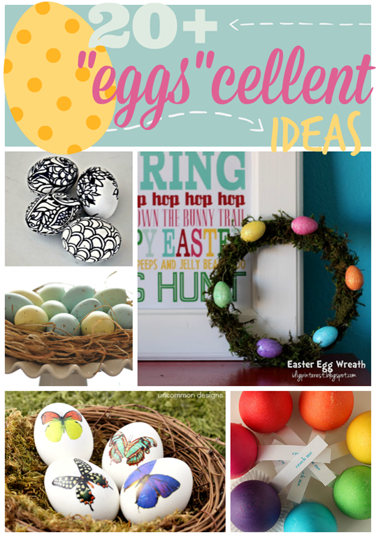 Over 20 Eggscellent Ideas at GingerSnapCrafts.com #Easter #eggs #linkparty #features_thumb[2]