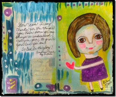 My Tribute Primitive Girl Art Journal Page