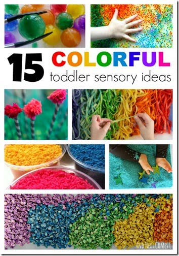 15 Colorful Sensory Activities for Toddlers and Preschoolers - so make really fun, unique kids activities!