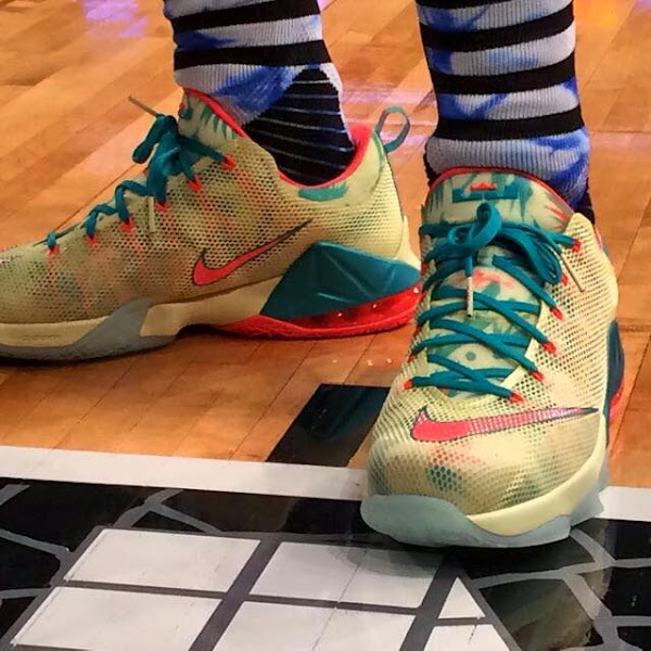 King James Unveils LeBron 12 Low LeBronold Palmer PE in Practice