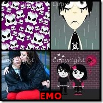 EMO- 4 Pics 1 Word Answers 3 Letters