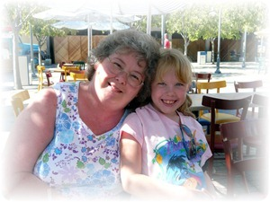 grandma and Bekah disney 2007