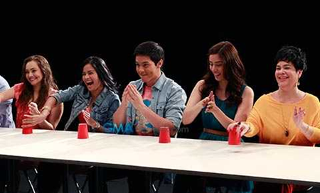 Cast of Mundo Mo&#39;y Akin during GMA-7&#39;s summer campaign shoot