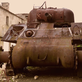 Sherman tank WW2 by Florence Guichard - Transportation Other ( urbex, old, sherman, south, france, rust, tank, abandoned, decay )