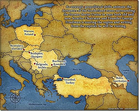 Borderlands around Russia map