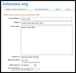 Future Me - Let students send a letter to themselves in the future