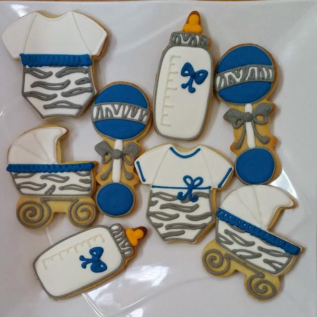 baby boy fancy cookies