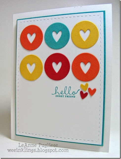 LeAnne Pugliese WeeInklings Paper Players 215 CAS Hello Six Sided Sampler Stampin Up
