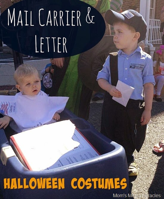 mail carrier & letter costumes