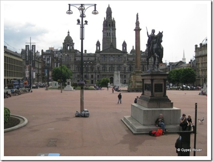 George Square with it's many statue's of famous Scot's.