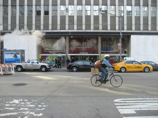 Here is the NY staples store where the items launched.