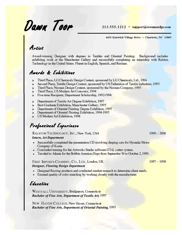 thesis proposal cover letter