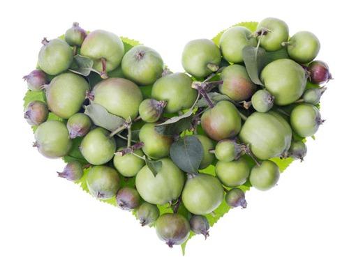 Сердце из яблок