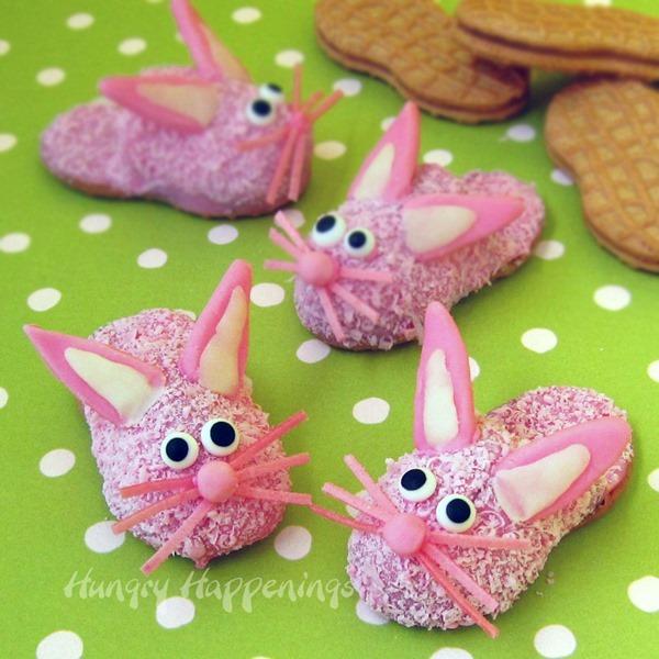 Bunny Slipper Cookies, pink slipper cookies, Nutter Butter Bunnies, Easter cookies, Easter cookie recipe copy