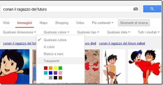Google Immagini trovare foto trasparenti