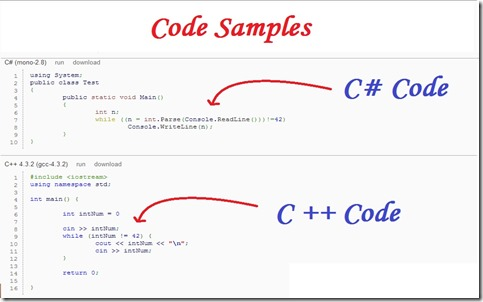 Sample Codes