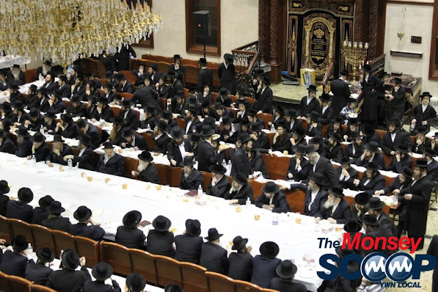 Yartzheit Tish For Stamar Rebbe Held In Satmar Beis Medrash Of Monsey (Photos by Moshe Lichtenstein) - IMG_5456.JPG