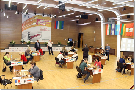 Playing Hall of Women's World Chess Championship 2012, Khanty-Mansiysk Russia