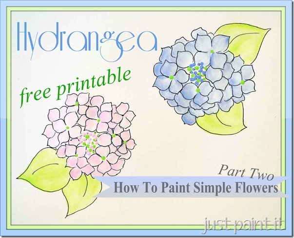 how to paint easy hydrangea