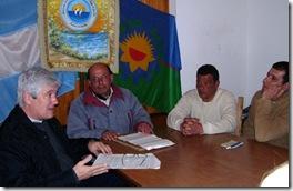 Ricardo Daubagna, se reunió el pasado martes con miembros de la Asociación de Vendedores Ambulantes de Zona Sur