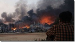Mosque burnt in Burma