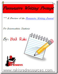Use this persuasive writing prompt to take your students through the steps of the writing process.  Free download from Raki's Rad Resources.