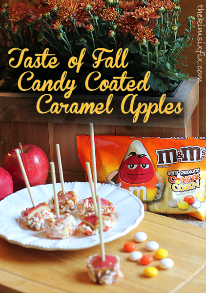 Candy coated caramel apples