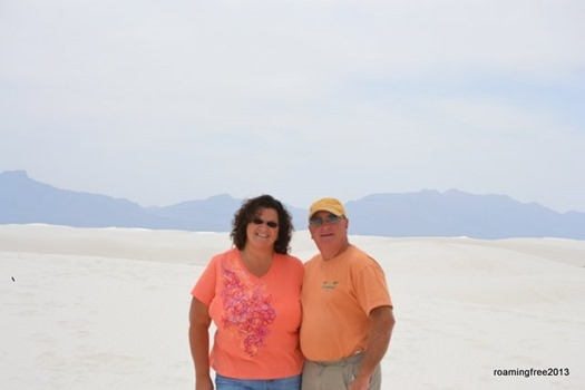 On top of white Sands