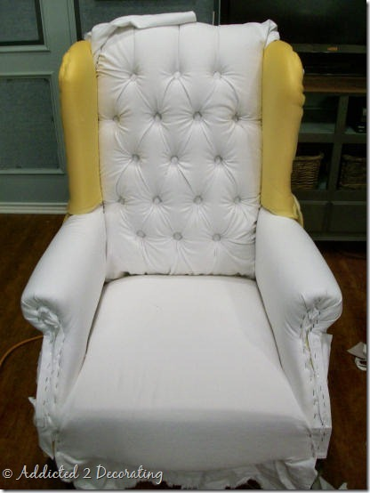 wingback chair progress 2