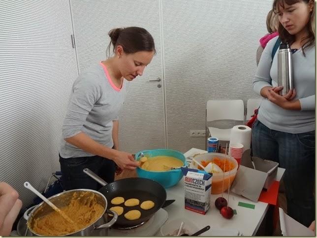Vaření šlo krásně, radost koukat !