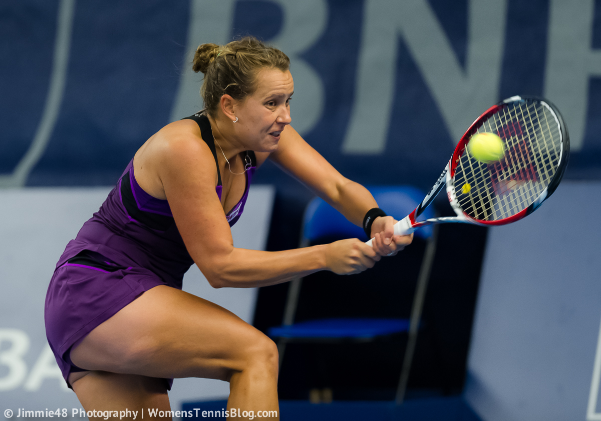 Barbora Strycova Handshake