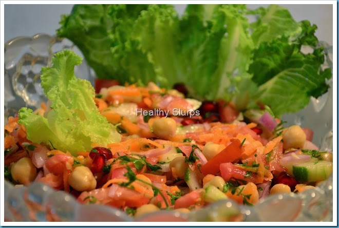 High protein snack - chole kachumber salad