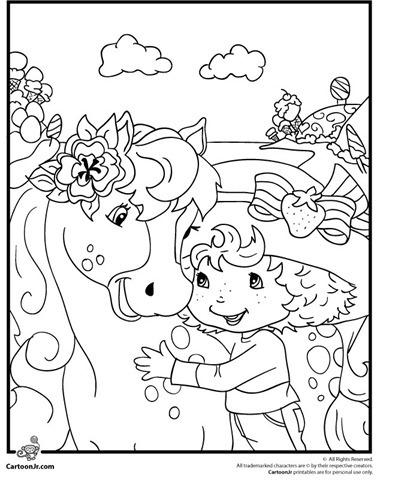 Desenho da moranguinho para colorir