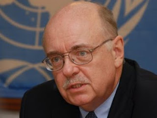 Le chef de la Monusco, Roger Meece  Kinshasa.