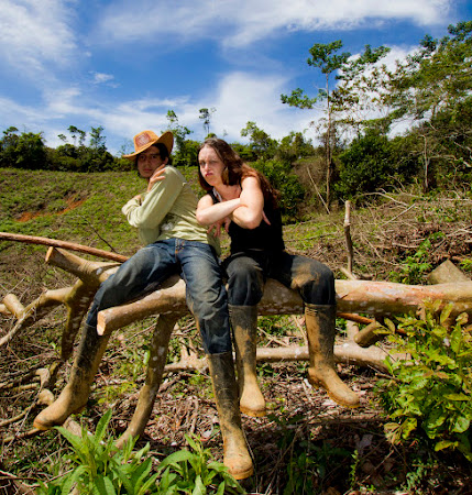 Dani Blanchette getting gangsta in the Colombian Countryside