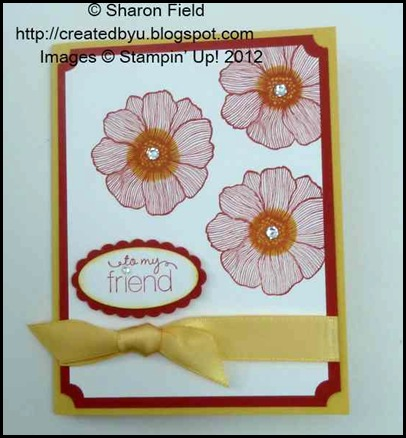 Clean  and Simple 5 minute card for senior stampers April 2012