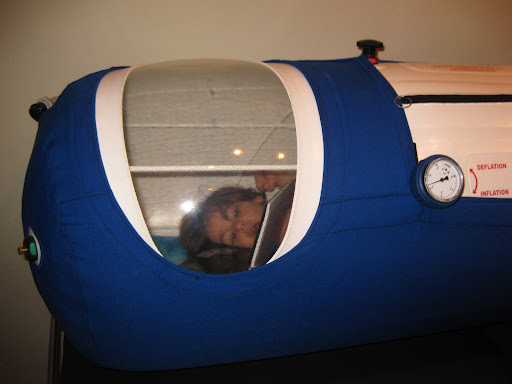 Oxyhealth mild hyperbaric oxygen chamber.