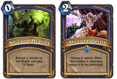 Hearthstone - Shaman - Ancestral Healing, Ancestral Spirit
