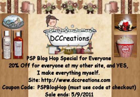 PSP Blog Hop Coupon