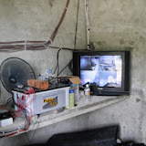 Photo 7: A security monitor in a farm house.