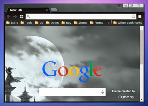 the full moon wait cyborg google chrome theme