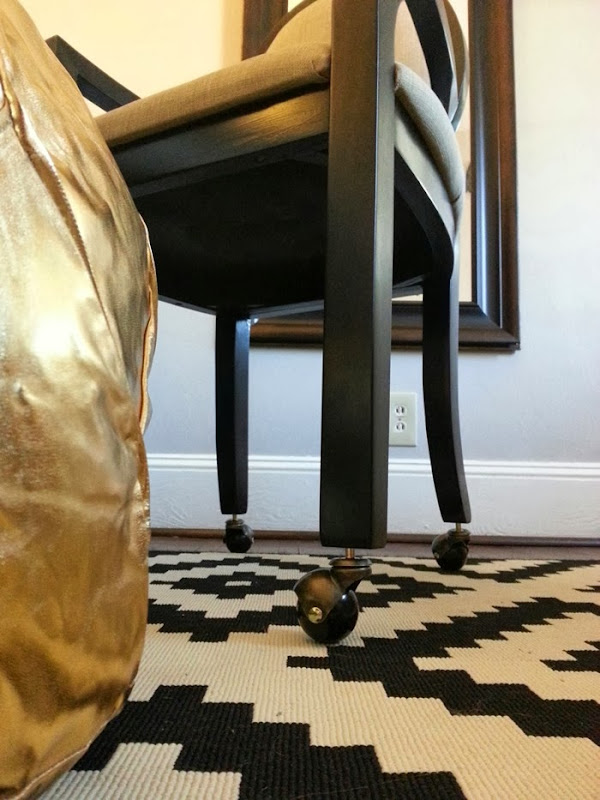 adding casters to an accent chair