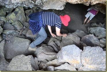 Pat entering cave-1