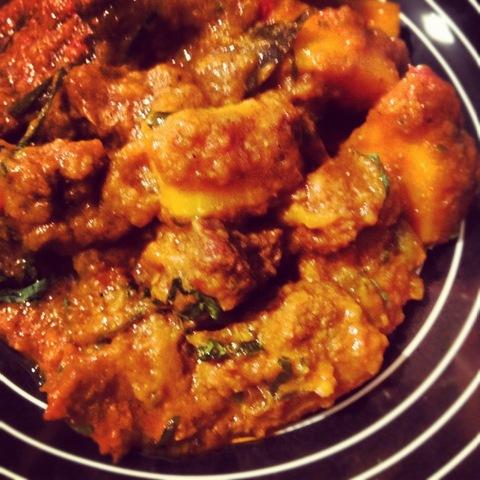 #244 - kodhu gosht curry (lamb and butternut squash)