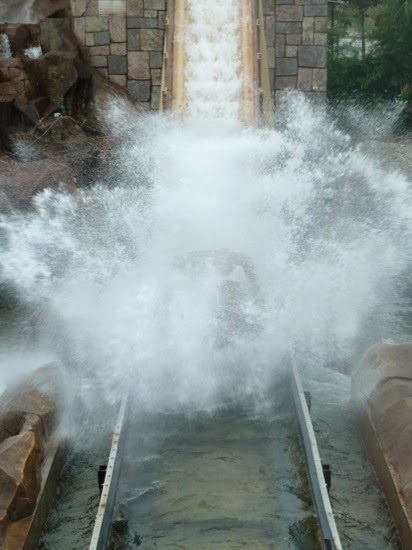 If you ride the log flume be prepared to get wet...