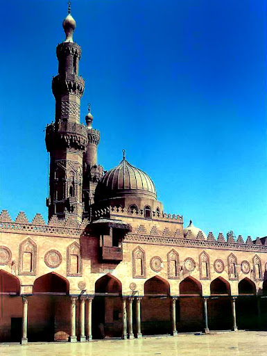 Courtyard of the al-Azhar Mosque in Cairo, 972.