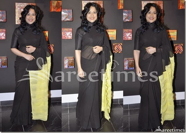Black_Plain_Saree