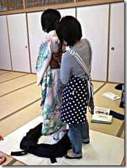 袴の他装着付け練習 (8)