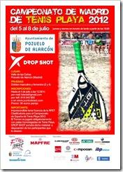 Tenis Playa en Madrid: Campeonato 2012 organizado por la Federación Tenis de Madrid.